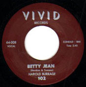 HAROLD BURRAGE - BETTY JEAN
