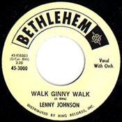 LENNY JOHNSON - WALK GINNY WALK