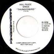 HAL PAIGE - THUNDERBIRD