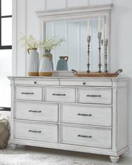 Kanwyn Whitewash Dresser & Mirror