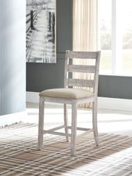 Skempton White/Light Brown Upholstered Barstool (2/CN)
