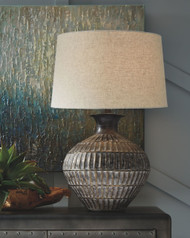 Magan Antique Bronze Finish Metal Table Lamp (1/CN)