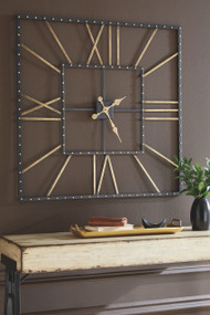 Thames Black/Gold Finish Wall Clock