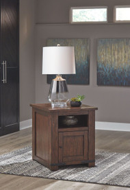 Budmore Brown Rectangular End Table