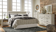 Bellaby Whitewash 3 Pc. King Panel Headboard Bed