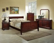 Classic Cherry Sleigh Queen Bed