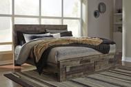 Derekson Multi Gray King Storage Footboard Bed