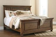 Flynnter Medium Brown California King Panel Bed