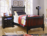 Cottage Twin Slat Poster Bed