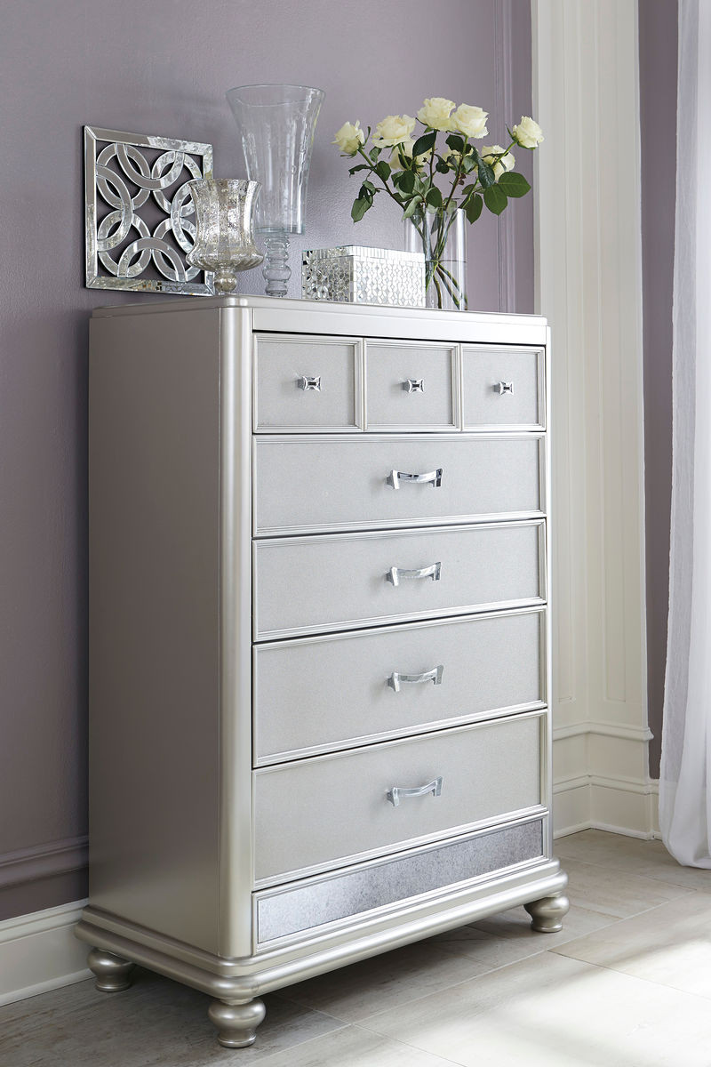 The Coralayne Silver Five Drawer Chest Sold At Rose