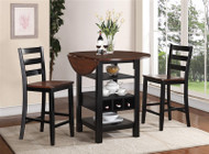 Kimball 3 PC Counter Height Table