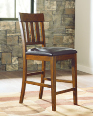 Ralene Medium Brown Upholstered Barstool