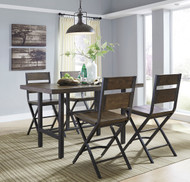 Kavara Medium Brown 5 Pc. Rectangular Counter Height  Dining Set