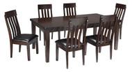 Haddigan Dark Brown 7 Pc. Rectangular Extension Dining Set