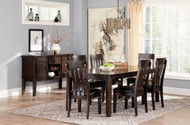 Haddigan Dark Brown 8 Pc. Rectangular Extension Dining Set