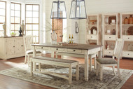 Bolanburg Antique White 9 Pc. Rectangular Dining Set