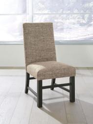 Sommerford Black/Brown Dining Upholstered Side Chair (2/CN)
