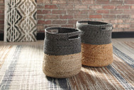 Parrish Natural/Black Basket Set