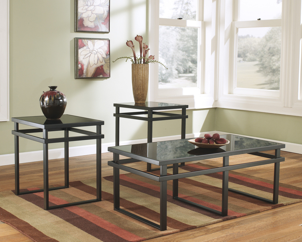 The Laney Occasional Tables Set Of Black Sold At Rose