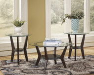 Fantell Occasional Tables (Set of 3): Dark Brown