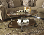 Nestor Oval Cocktail Table: Medium Brown