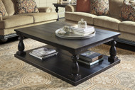 Mallacar Rectangular Cocktail Table: Black