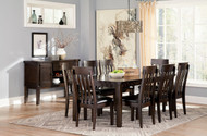 Haddigan Rectangular Dining Room Extension Table: Dark Brown