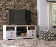 Willowton Whitewash LG TV Stand w/Fireplace Option