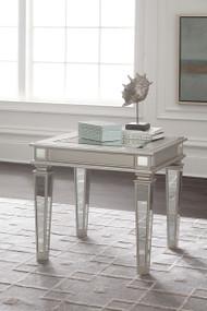 Tessani Silver Rectangular End Table