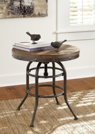 Vennilux Grayish Brown Round End Table