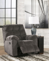 Acieona Slate Swivel Rocker Recliner