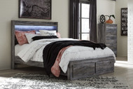 Baystorm Gray 5 Pc. Chest & Queen Panel Bed with Footboard Storage