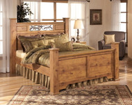 Bittersweet Light Brown King Poster Bed