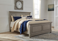 Lettner Light Gray King Panel Bed