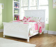 Kaslyn White Full Panel Bed