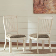 Bolanburg Two-tone Dining Upholstered Side Chair (Set of 2)