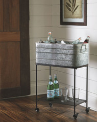 Vossman Antique Gray/Brown Beverage Tub
