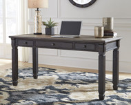 Tyler Creek Grayish Brown/Black Home Office Desk