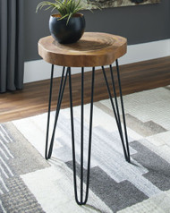 Eversboro Brown/Black Accent Table