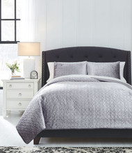 Maryam Gray Queen Coverlet Set