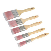 Silverline Synthetic Paint Brush Set - 5 piece