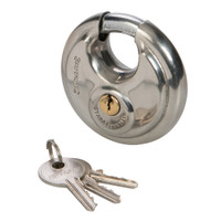 Silverline Stainless Steel Disc Padlock