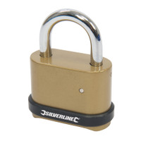 Silverline 50mm 4-Digit Combination Padlock