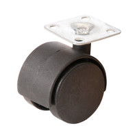 Fixman Twin Wheel Plate Castors - Pack of 4