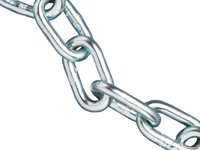 Mild Steel Straight Link Chain - Zinc Plated