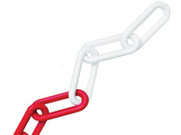 Faithfull Red & White Plastic Chain