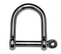 Wide Jaw Dee Shackles with Captive Pin - Stainless Steel