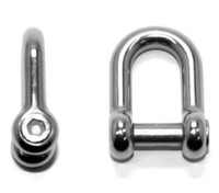 Dee Shackles with Countersunk Hex Socket Pin - Stainless Steel