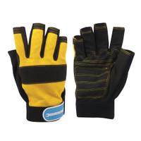 Silverline Fingerless Mechanics Gloves