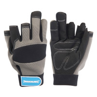 Silverline Part-Fingerless Mechanics Gloves